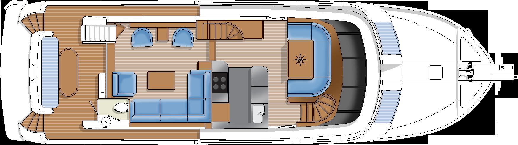 hampton yachts main deck